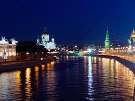 Прогулка на теплоходе по ночной Москве